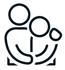 Symbol zwei sich umarmende Menschen, Bestattungen Rudolph oHG